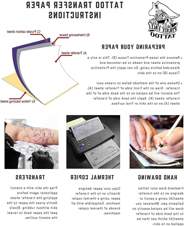 Comment utiliser le papier de transfert de tatouage